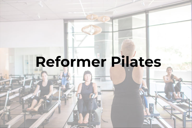 Reformer Pilates class in Chatswood at the Leap studio
