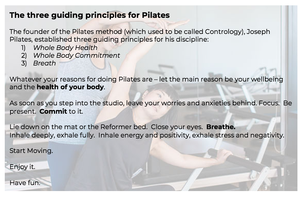 Pilates guiding principles
